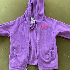 North face sweater.